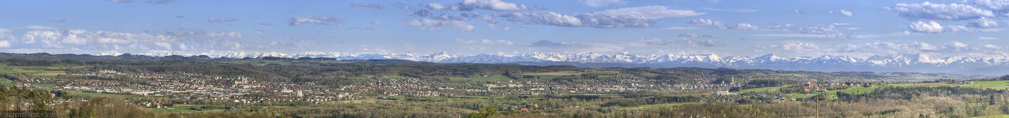 Megapixelpanorama von Baienfurt bis Ravensburg
