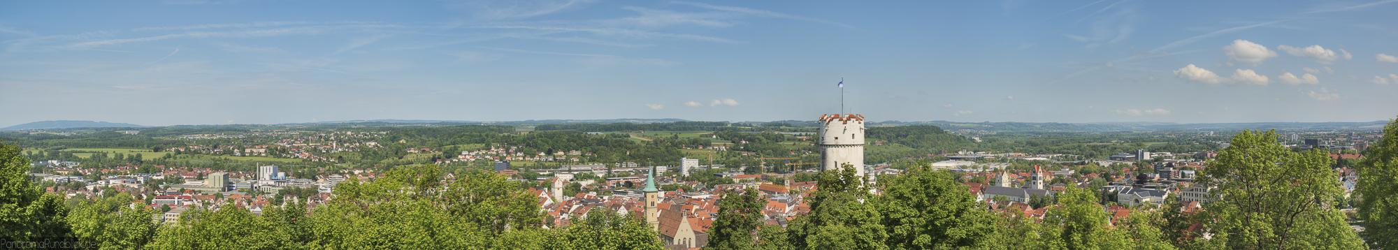 Panoramafoto von der hystorischen Altstadt Ravensburg