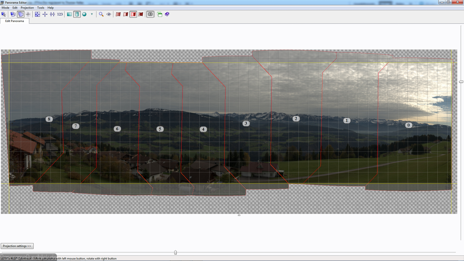 Vorschau Edit-Panorama